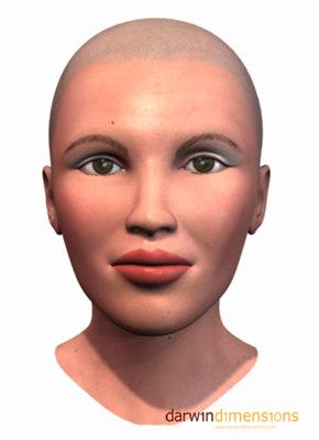 3d head facials expressions model