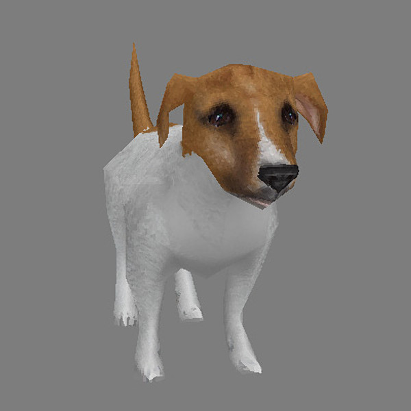 Low Poly Jack Russell Terrier
