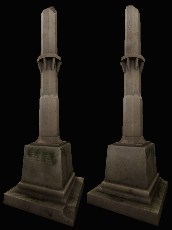 3d model tombstone