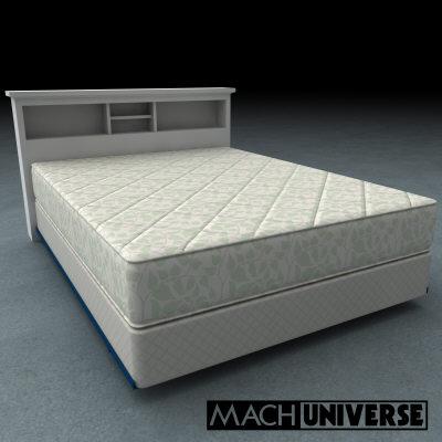 mattress boxsprings bedframe 3d lwo