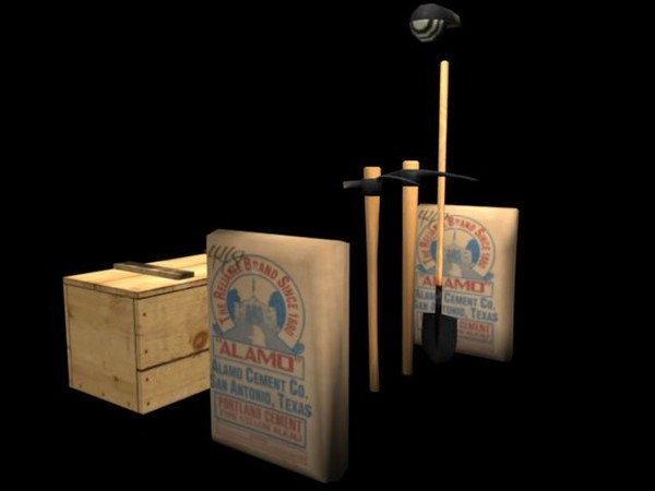 crate set modeled 3d model