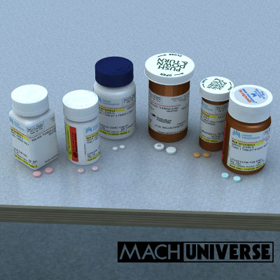 prescription bottles 3d lwo