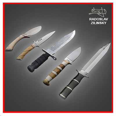 3d model of combat daggers knives pack