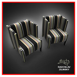 3d max chair interior living room
