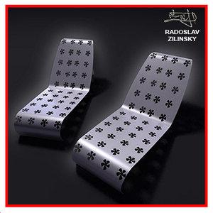 3ds max garden furniture chair design