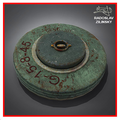 Land MINE - weapon explosive.