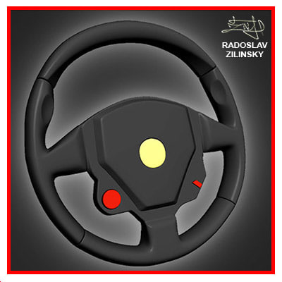 3d max steering wheel resolution