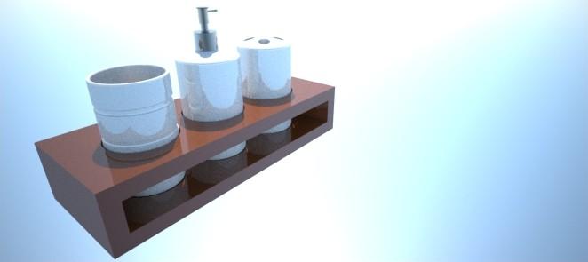 3ds max bathroom set