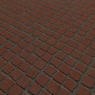 G017 Small Red Concrete Paving Cobbles Sidewalk Pavers