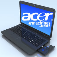 notebook acer emachines laptop 3d model