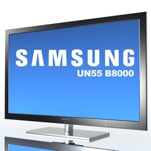 tv samsung un55 b8000 3d model