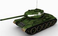 3d t34-85 mograph model