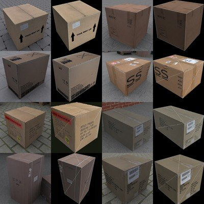 cardboard boxes 3d 3ds