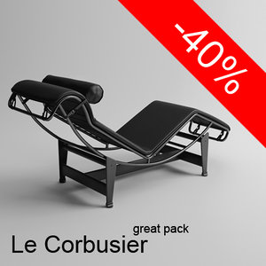 Great Le Corbusier furniture pack