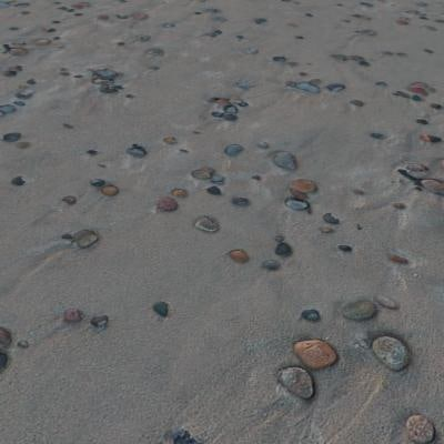 G157 beach sand pebbles SRF