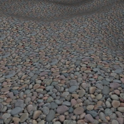 G416 shingle beach pebbles SRF