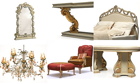 Collection of Classical Furniture and Lusters