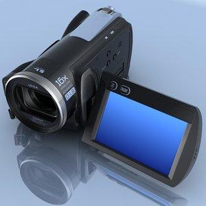 3d model of camcorder panasonic hdc-sd20 hd