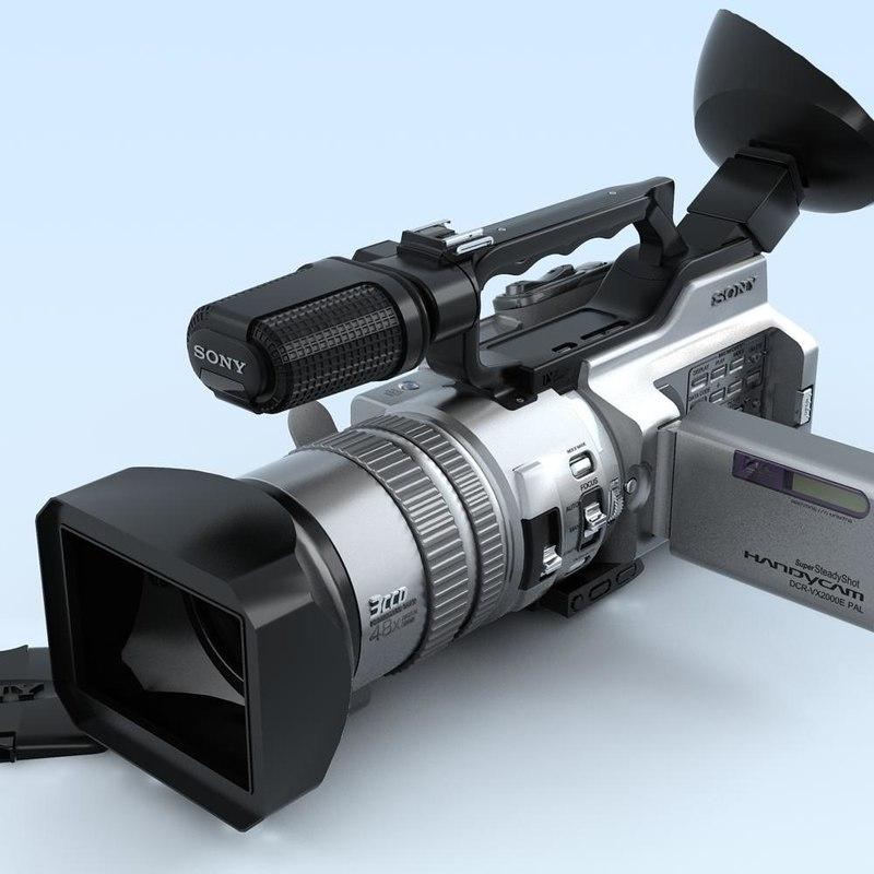3d model camcorder sony dcr-vx2000e
