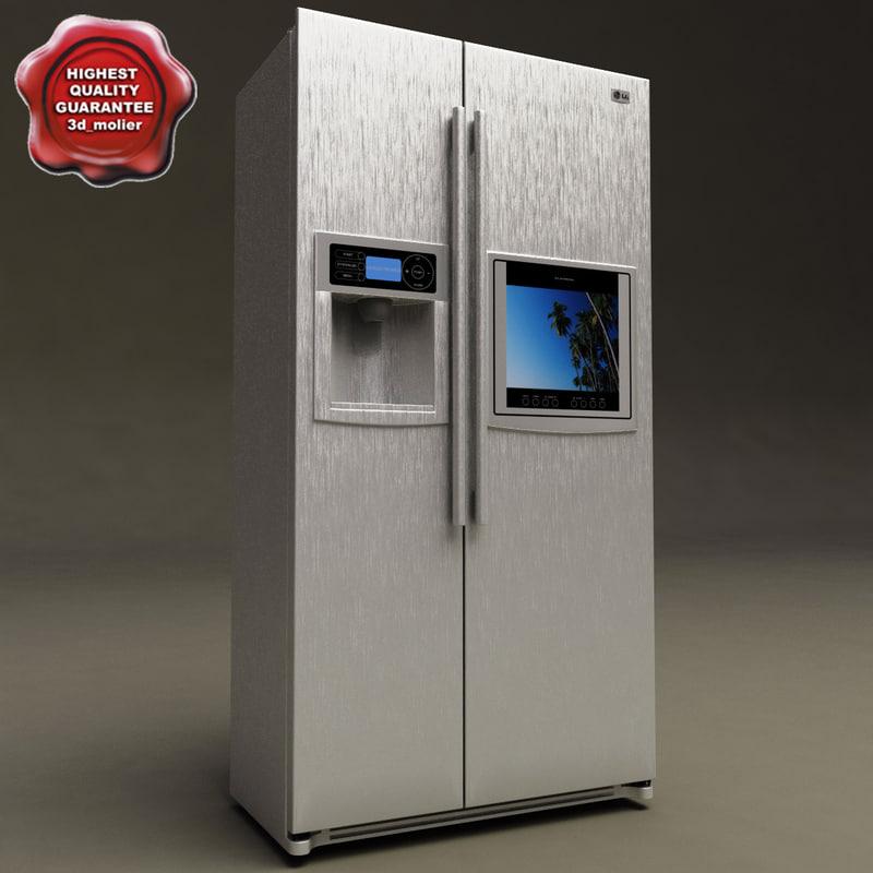 refrigerator lg v2 3d model