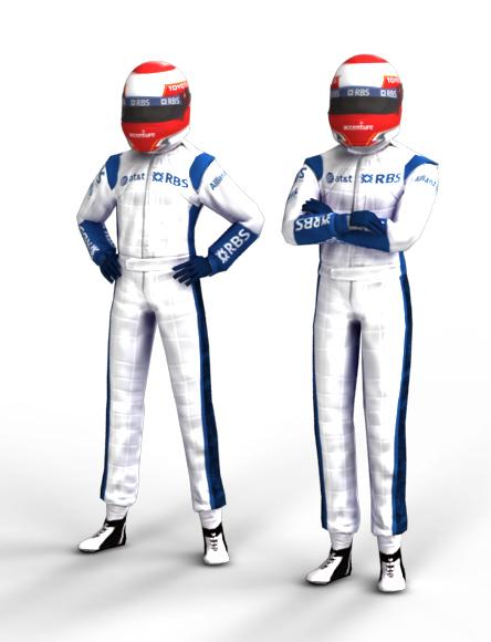 nakajima f1 driver 3d model