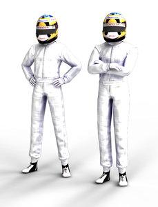 F1 Driver -white