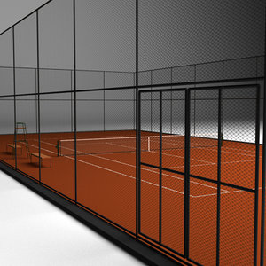 Tennis court clay