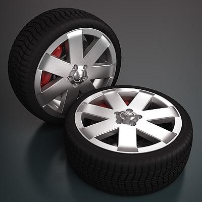 audi wheel - 3d max