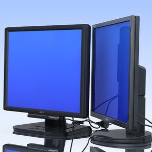 2 LCD Displays. Samsung&Acer.MF
