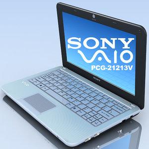 notebook sony vaio pcg-21213v 3d model