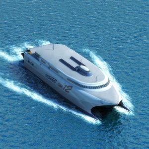 catamaran ferry sea seacat 3d model