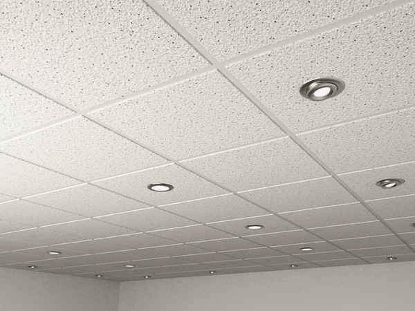 Ceiling tile and Spot Lights.max