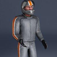 motorcycle rider 3d model