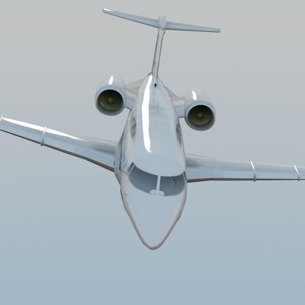 learjet60 jet learjet 60 3d model