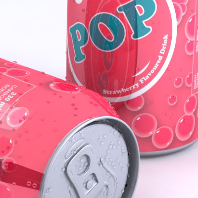 3d model unbranded soda flavours multiple