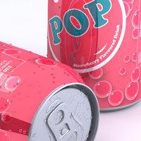 3d model unbranded soda flavours multiple