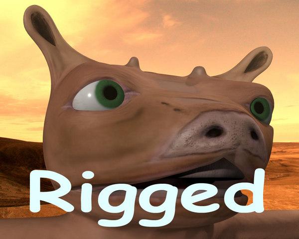 Puckmaren, little nice alien - Rigged