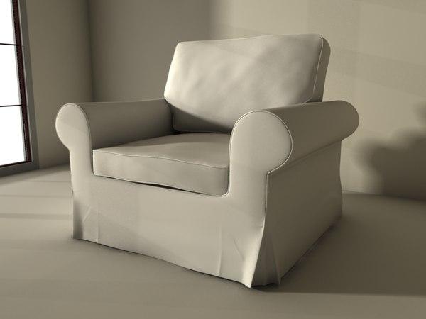 ikea ektorp armchair 3d max