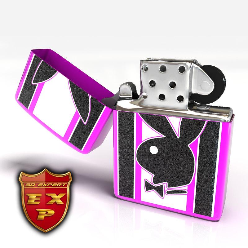 3d model playboy zippo lighter