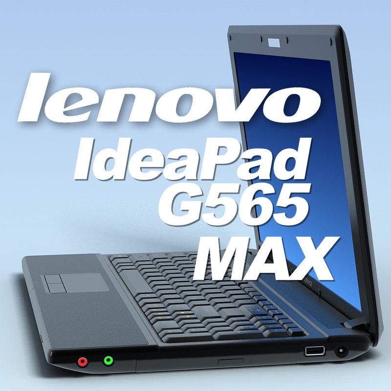 notebook lenovo ideapad g565 3d model