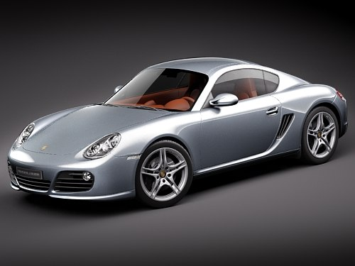 porsche cayman 2011 sport coupe 3d model