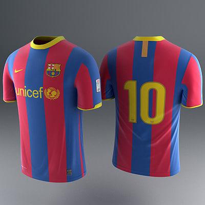 a6cee7e15 Barcelona Shirt - Soccer Jersey. by RedTrey. barcelona - jerseys 3d model