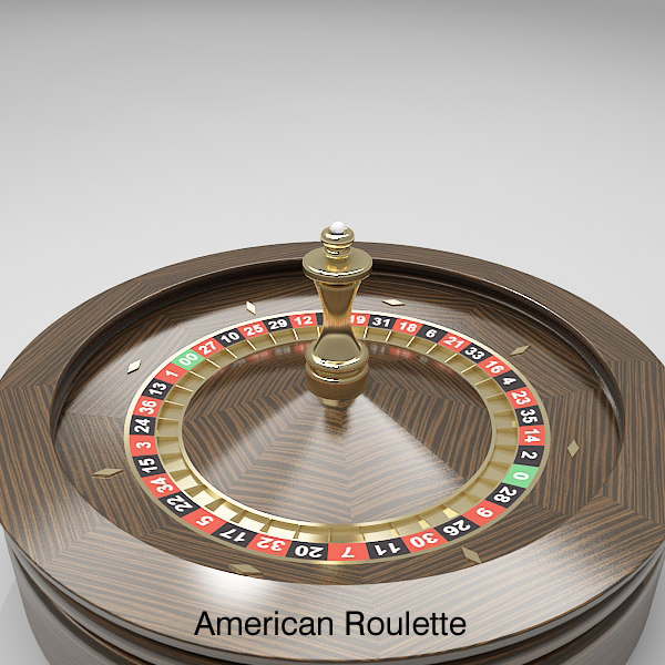 3d model roulette wheel 3 american