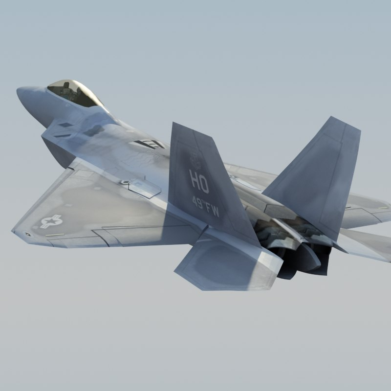 3ds f22a raptor f-22 fighter