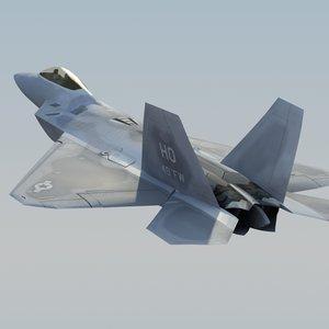 3ds f22a raptor f-22 fighter
