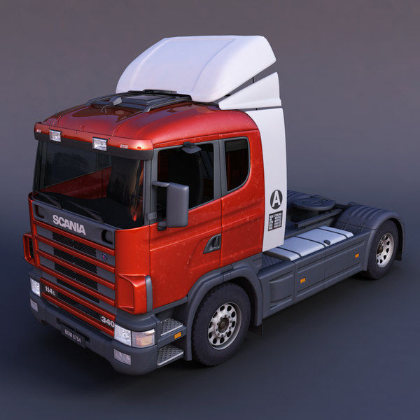 scania semi-trailer truck 3d model