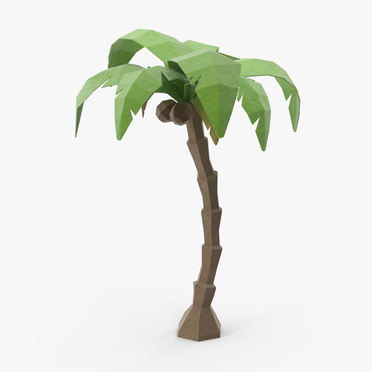 low poly palm tree 3d model by royalmix