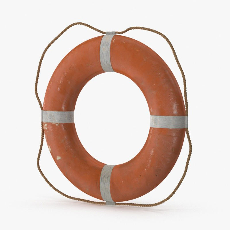 life preserver 3d model by royalmix